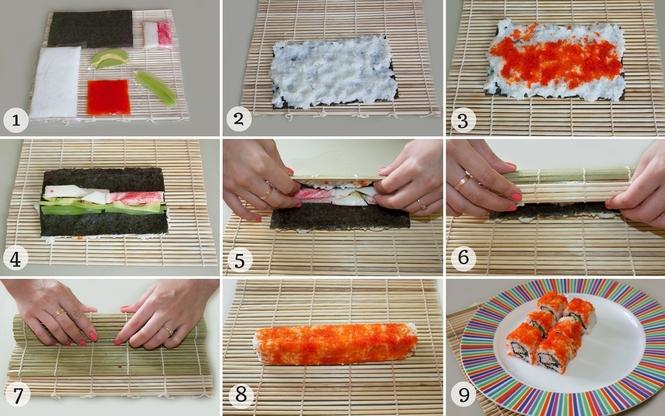Приготовить роллы в домашних условиях пошаговый рецепт с